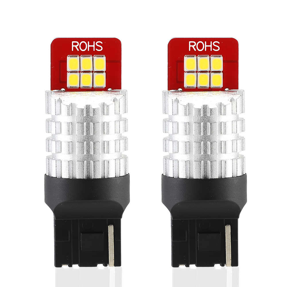 NOVSIGHT 2Pcs 7440,T20,W21W LED Bulb Car Tail Bulb Rear Fog Light Brake Lights For White Color Car Light