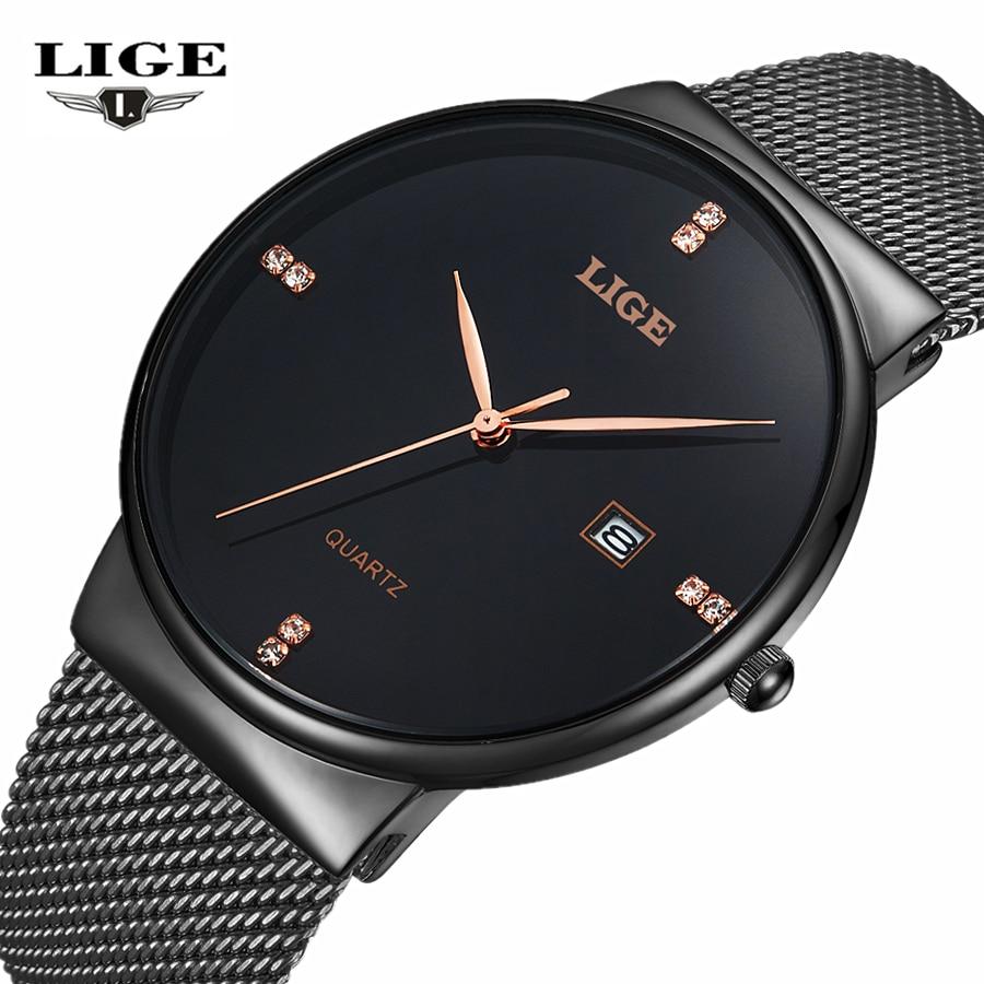 LIGE Brand Еркектерге арналған қарапайым - Ерлердің сағаттары - фото 1