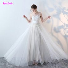 Gorgeous White Wedding Dresses 2017 New Sexy Formal Wedding Dress Long Tulle Appliques Beach Champagne Wedding Gowns Custom made(China)