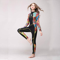 2018 New Hisea 3mm Neoprene Long sleeve Wetsuit Women Spear fishing Wet Suit Diving Swimwear kite Surfing Completo Swimsuit