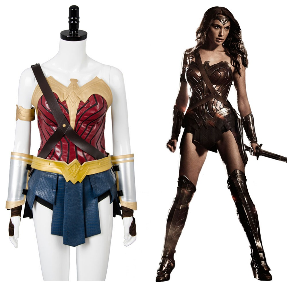 Wonder Woman Diana Prince Cosplay Costume Batman v Superman Dawn of Justice Cosplay Outfit Superhero Halloween Party Sets
