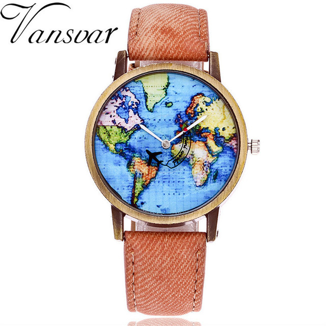 plane fabric denim pinterest images relojes lovers map best by lover free on women s men watch clock watches world quartz shipping female