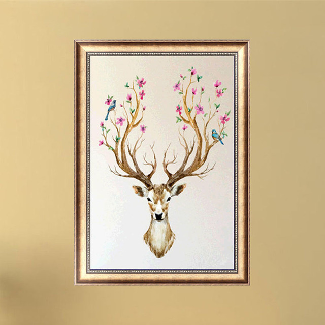 Diamond Painting DIY 5D Embroidery Painting Needlework Cross Stitch Deer Antlers  Home Decor