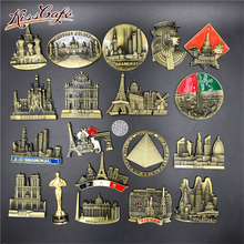 Creative Famous Landmark Metal 3D Fridge World Travel Souvenirs Refrigerator Magnetic Stickers Home Decortion Gifts