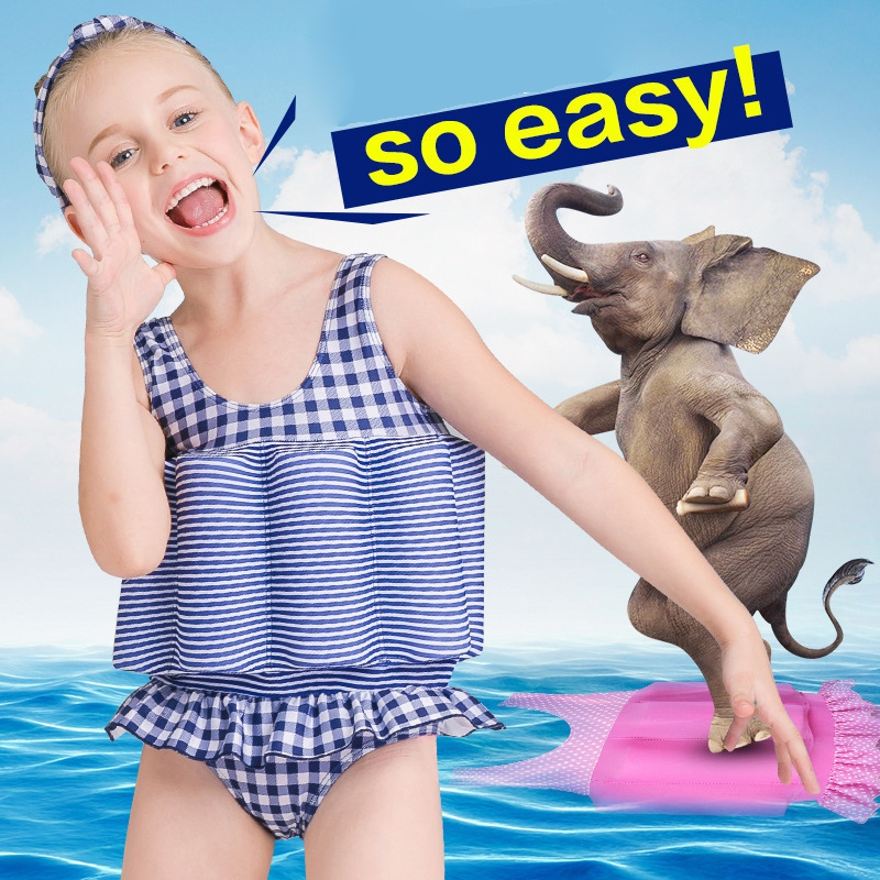 Infant new Children Swimwear Floating Bathing Suit Toddler Swimsuit Sport Swimming Suit Detachable Training(China)