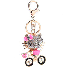 Fashion Jewelry Gifts DIY Charms Metal Keychains Purse Bag Buckle Pendant For Car Anime Cat Shape Keyrings Key Chains Holder