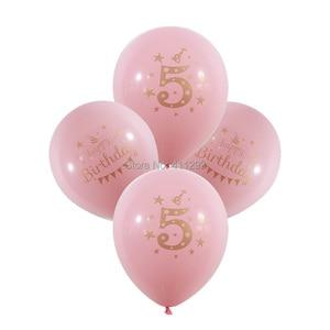 Image 3 - 12 יח\חבילה ילדים יום הולדת בלון writting מספר 1 2 3 4 5 6 7 8 9 שנים 1st 2nd מסיבת יום הולדת דיגיטלי בלון לטקס Globos
