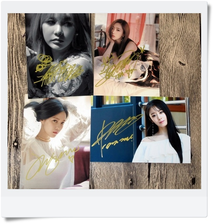 T-ARA TARA Ji Yeon EN jung Hyomin  Autographed Photo What's my name 4 photos set 4*6 free shipping  062017B snsd tiffany autographed signed original photo 4 6 inches collection new korean freeshipping 012017 01