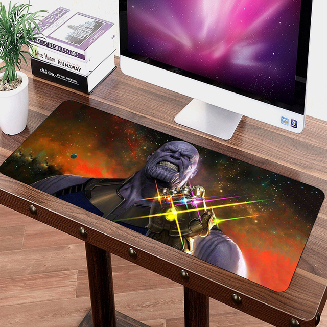 SIANCS 70*30cm Mouse pad Avengers Infinity War anime Gaming XL Large Grande mouse pad gamer Keyboard Mat Thanos Iron Man