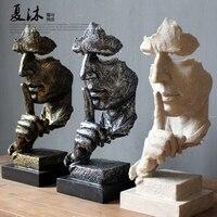 3 только Современные европейские абстрактный Рисунок людей скульптурные ремесел древних времен Офис Гостиная орнаментом, украшения сада