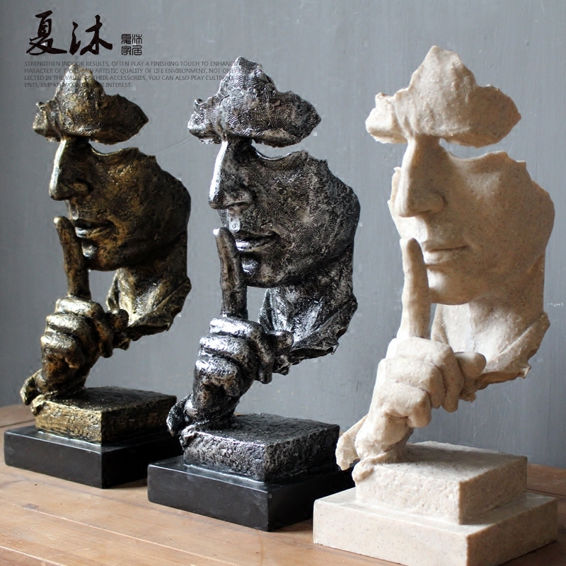 3 only Modern European abstract figure people sculptural crafts ancient times Office living room Ornament garden decoration