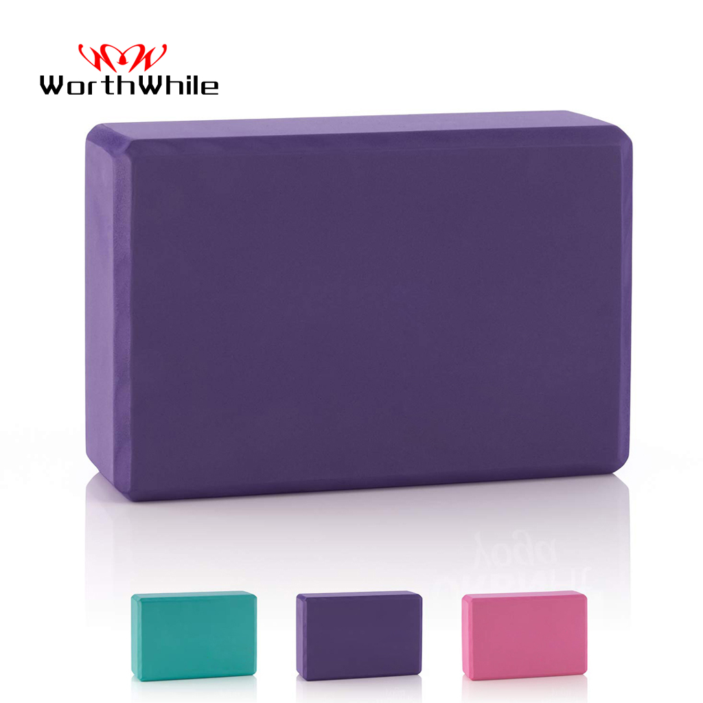 WorthWhile Gym Fitness EVA Yoga Block Colorful Foam Block Brick For Crossfit Exercise Workout Training Bodybuilding Equipment