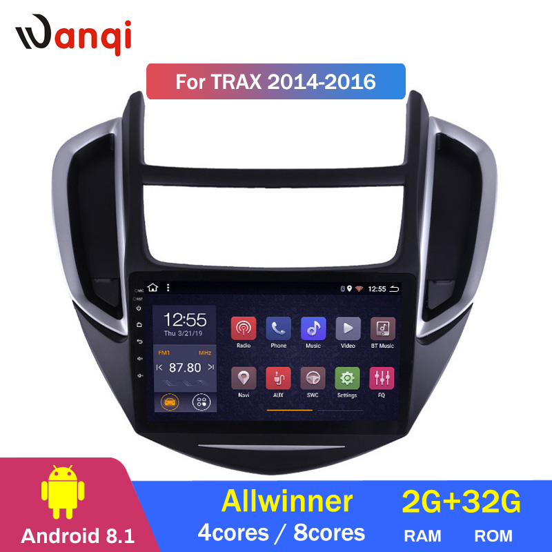 2G RAM 32G ROM 9 inch Android 8.1 car multimedia system For Chevrolet Trax 2014-2016 gps radio navigation2G RAM 32G ROM 9 inch Android 8.1 car multimedia system For Chevrolet Trax 2014-2016 gps radio navigation