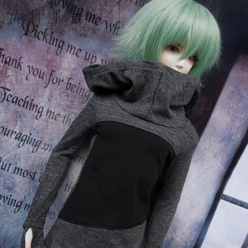 New 1/3 1/4 Uncle BJD SD MSD Doll GRAY BLACK Long Sleeve Shirt/Outfit/Clothes handsome grey woolen coat belt for bjd 1 3 sd10 sd13 sd17 uncle ssdf sd luts dod dz as doll clothes cmb107