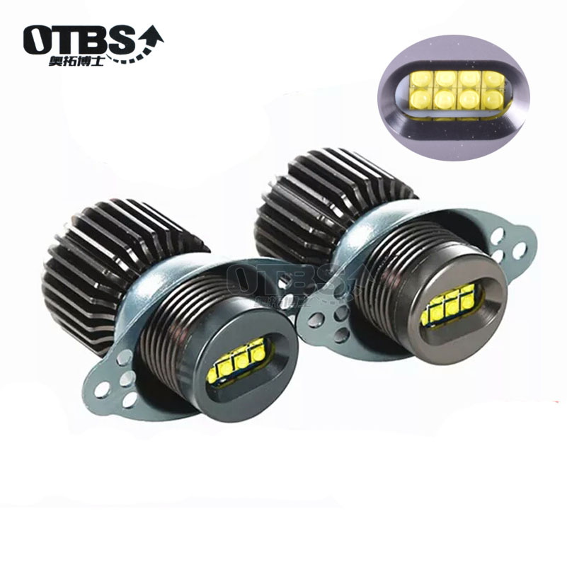 OTBS 2x80w <font><b>LED</b></font> Angel Eyes Marker Canbus For <font><b>BMW</b></font> <font><b>E90</b></font> E91 328i 335i 2009-2011 LCI Non Xenon <font><b>Headlight</b></font> White image