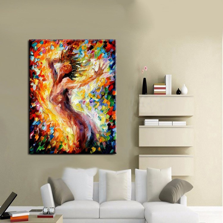 Us 28 05 49 Off New Design Hand Painted Nake Girl Pictures Wall Painting On Canvas High Quality Nude Girl Oil Painting For Wall Art In Painting