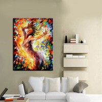 New Design Hand Painted Nake Girl Pictures Wall Painting On Canvas High Quality Nude Girl Oil Painting For Wall Art