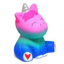 Cartoon Blue and Purple Squishy Unicorn Toy