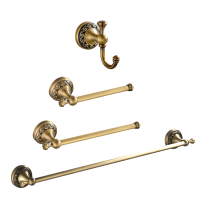 Retro Antique Bathroom Accessories set 58 cm towel bar solid brass with simple and solid brass bathroom product