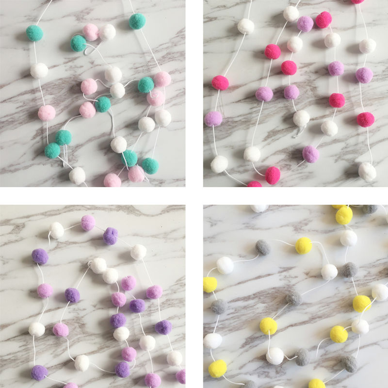 Ins Nordique Vent Ameublement Doux Outfit Enfants Chambre Filles Chambre Décoration Macarons fil de couleur la Ficelle Pendentif 1 pièces