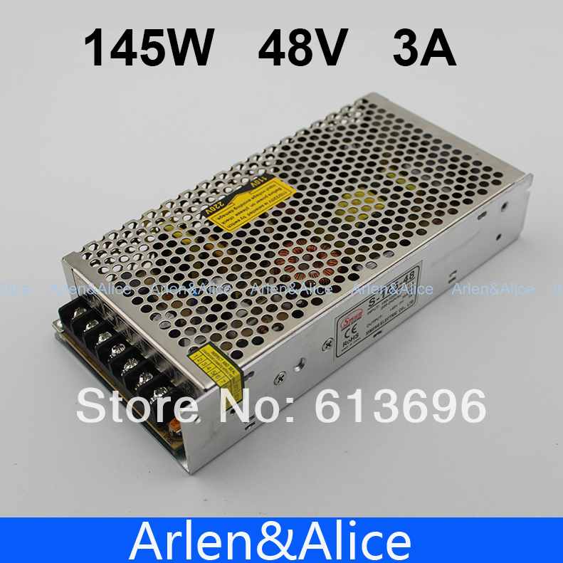 145W 48V 3A Single Output Switching power supply for LED Strip light AC to DC
