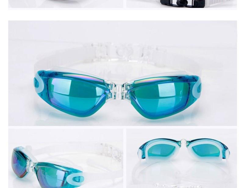 Silicone Professional Myopia Swimming Goggles With Earplug Anti Fog For Men And Women 4