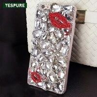 YESPURE Sexy Labbra Rosse Telefono Back Cover per Iphone 6 Bling Glitter Cassa Del Telefono Delle Cellule per Il Iphone 6 s Luxuty Donne Copertura per telefono