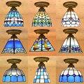 Tiffany Средиземноморский Европейский стиль витражный потолочный светильник для прихожей