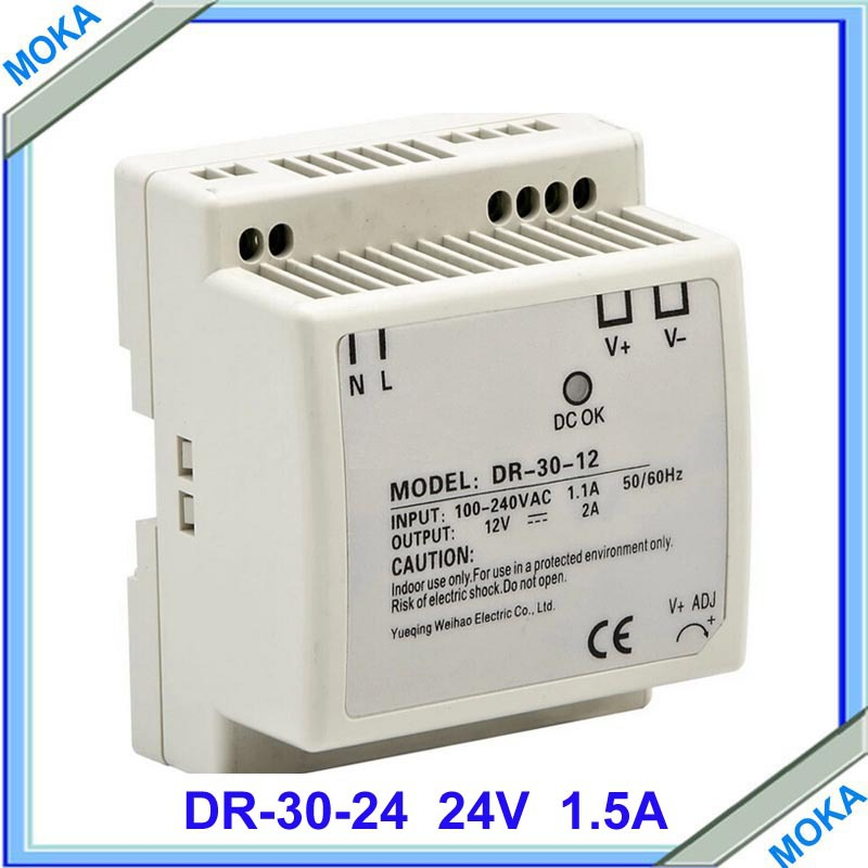 Factory Supply DR-30-24 Din Rail Switching Power Supply 30W 24VDC 1.5A Output Free Shipping мышь microsoft mobile mouse sculpt розовый 43u 00020