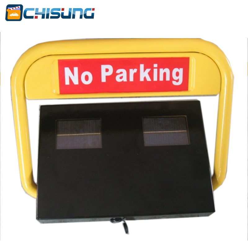 Water proof Solar Parking Bay Barrier/Solar Parking Drop Down Barrier half ring shape of the block machine parking barrier lock