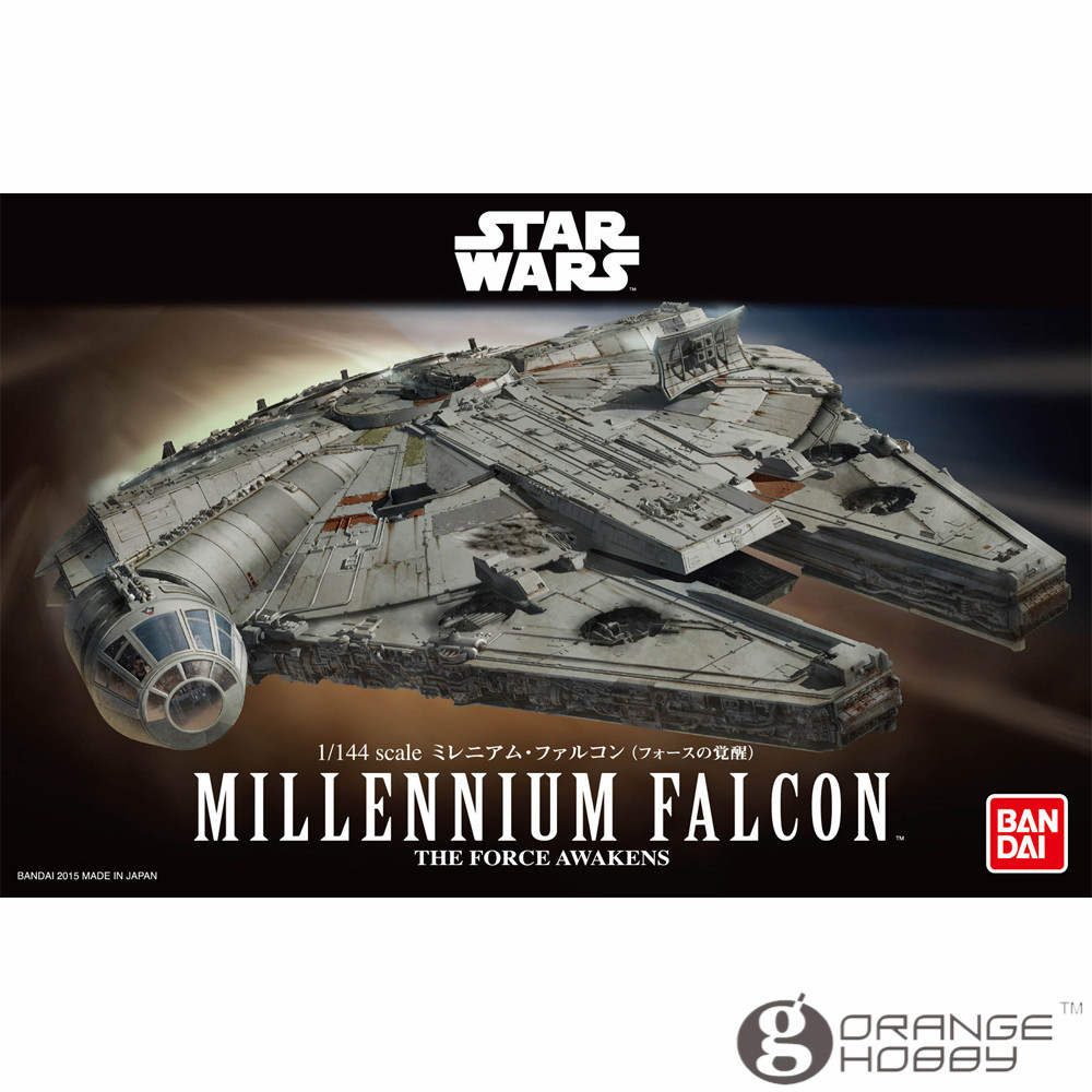 OHS Bandai SWTFA 1/144 Millennium Falcon Assembly plastic Model Kits bandai sw 1 12 stormtrooper assembly model kits