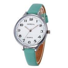 Fashion Women's Watch Casual Checkers Faux Leather Quartz Analog Wrist Watch relogio feminino dropshopping free shipping K40