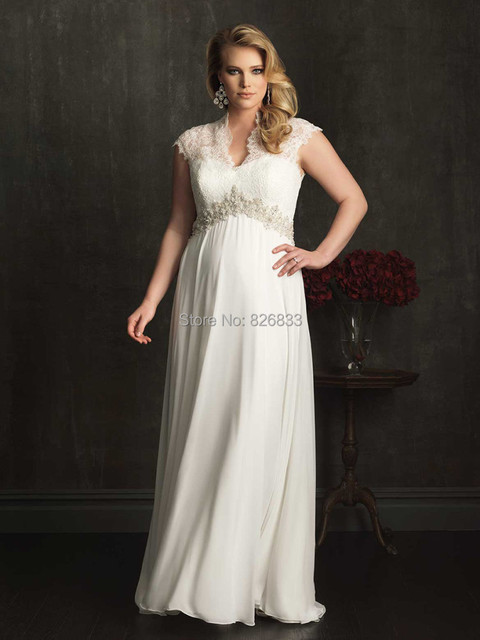 6882a49c9944 Vintage Cap Sleeves Covered Back Ivory Chiffon Plus Size Maternity Wedding  Dress For Pregnant Women 2015