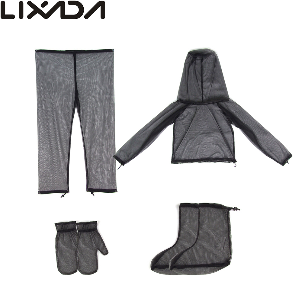 Lightweight summer bug wear mosquito suit jacket mitts for Lightweight fishing pants