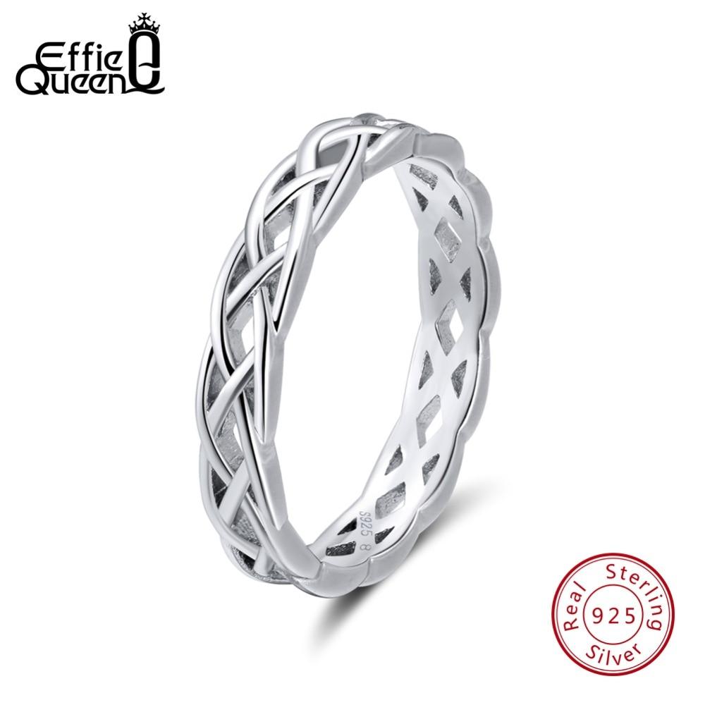 Effie Königin Echt 925 Sterling Silber Ringe Für Frauen Verdrehte Hohl Silber Ring Hochzeit Band Mode Schmuck Anillos Geschenk Br62 Mild And Mellow