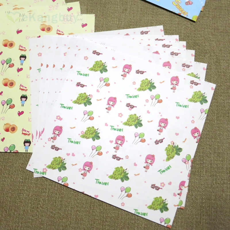 72sheets/12 patterns Cute Fruit Kids Origami Paper Birthday Party Decor Paper Craft DIY accessory 14.3x14.3cm