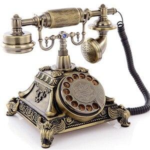 Teléfono Retro Vintage, teléfono antiguo pastoral Europea, teléfono fijo, rotación de tarjeta inalámbrica, nuevo de gama alta