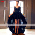 Evening Dress Court Train Floor-Length Regular Natural Half Lace Asymmetrical Custom Made Prom Dress Elegant  Vestido De Noiva