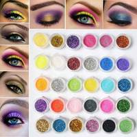 30pcs Mixed Colors Eyshadow Kit Mineral Eye Shadow Powder Glitter Sequins Eye Pigment Makeup Cosmetics With