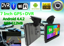 7 inch Android 4.4.2 Vehicle GPS Navigation 800*480 Capacitive Screen Android Table PC with DVR Car GPS Navigator