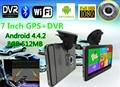 7 pulgadas Android 4.4.2 GPS de Navegación Del Vehículo 800*480 Pantalla Capacitiva Android PC de la Tabla DVR Del Coche GPS Navigator