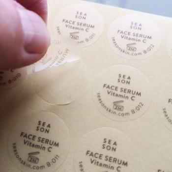 Custom order Matte surface finishing Transparent PVC, Self-adhesive label sticker, Item No. CU44