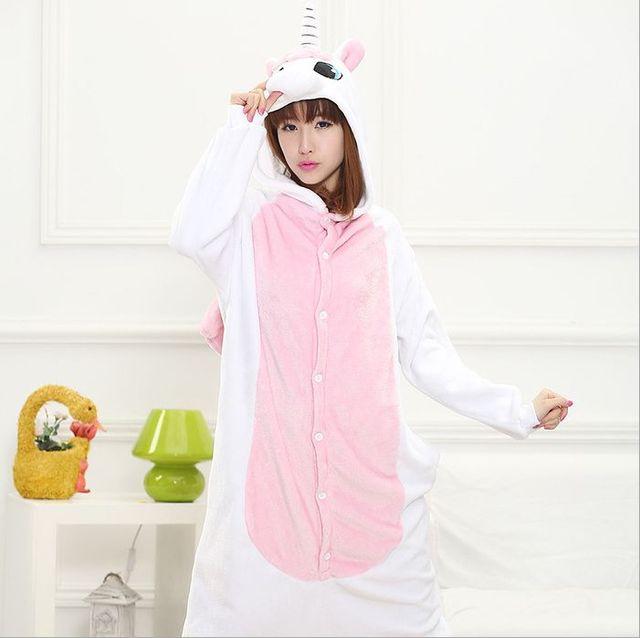 Animal Capuche Onesie Femme Pleine Femmes De Pyjama Manches À Ygbf6y7
