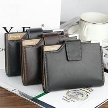 Brand leather Men Wallet coin pocket zipper Handy luxury Short purse
