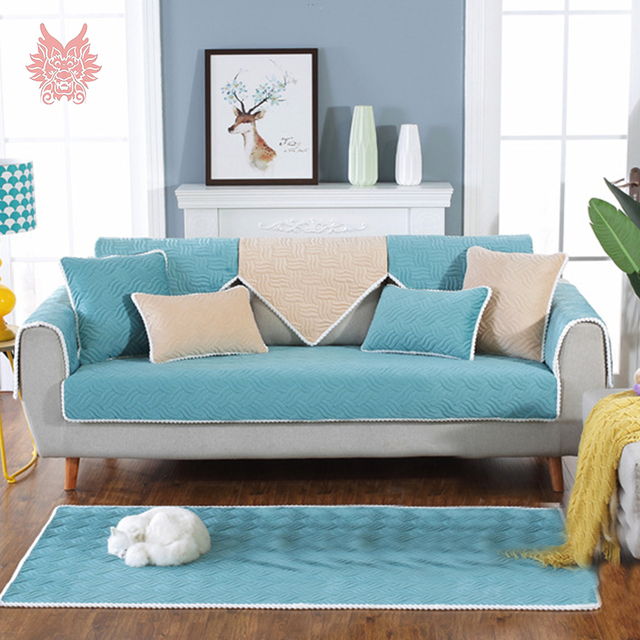 hussen fur sofa blau, lila blau floral gesteppte plüsch sofa abdeckung cama hussen für, Design ideen