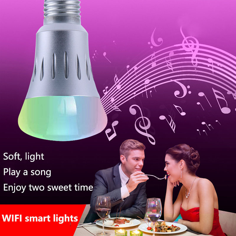 Smart Home RGB Bulb APP Remote Control Dimming Color WiFi Bulb Alexa Voice Smart BulbChristmas light bulb AC85-265V7W wifi rgb led lamp bulb dimmable e26 rgb color light for smart home support for alexa and google home