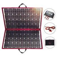 Dokio 18 в 100 Вт 110 Вт солнечная панель 12 В Гибкая Складная солнечная зарядка мобильный телефон usb наружная солнечная панель s для кемпинга/лодки/