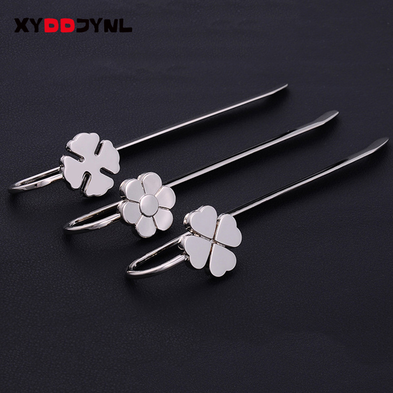 1pcs Unique Clover Metal Bookmark Student Books Marks Holder Escolar Paper Book Creativity Stationery School Supplies