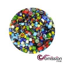 100 г/пакет смешанные красивые Millefiori стекла COE90 для микроволновой печи аксессуары для плавления стекла