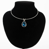 Rhinestone Austrian Crystal Pendant Necklace Zinc Alloy Gold Silver Plated Women Necklaces Collar Bijoux Femme MDJB147